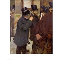 Posterazzi BALXIR33376LARGE At The Stock Exchange Poster Print by Edgar Degas - 24 x 36 in. - Large