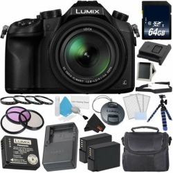 Panasonic Lumix DMC-FZ1000 Digital Camera 4K Point and Shoot Camera Deluxe Kit