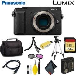 Panasonic Lumix DMC-GX85 Mirrorless Micro Four Thirds Digital Camera (Body Only) (Black) Master Bundle
