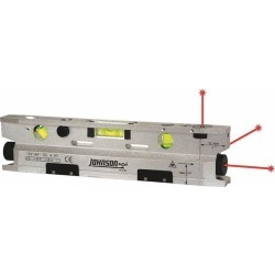 Johnson Level & Tool 40-6184 Three-Beam Magnetic Torpedo Laser Level
