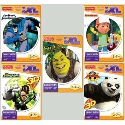 Fisher-Price iXL Learning System Software 5 disc lot Batman Shrek Handy Manny +