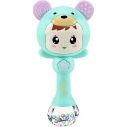 Baby Hand Bell Sand Hammer Toy Baby Music Rhythm Rolling Sticks Toys Green