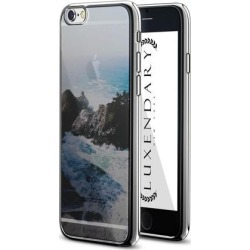 LUXENDARY WAVES & ROCKS SEETHROUGH DESIGN DESIGN CHROME SERIES CASE FOR IPHONE 6/6S PLUS