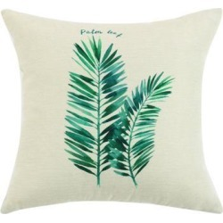 Green Leaves Throw Pillow Cover, Pattern Cushion Cover Cotton Plant Pillow Case Square Pillow Protectors Home Decorative for Sofa/Couch/Bed/Car(18 x.