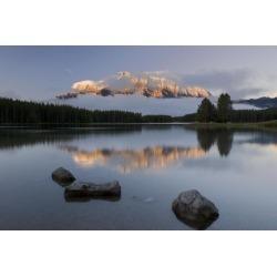 Posterazzi DPI1835714 Two Jack Lake Banff National Park Alberta Canada Poster Print, 17 x 11