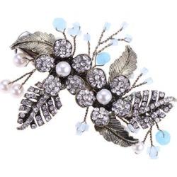 Women Hair Pin Rhinestone Pearl Hair Clips Bridal Accessories 90 x 80 x 60mm