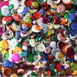 BULK CRAFT CUP SEQUINS MIXED COLORS and SIZES Great Big Pack Over 5,000 sequins