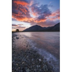 Posterazzi DPI12290618 Colors of Sunset Fill The Sky Over Upper Twin Lake in Lake Clark National Park & Preserve Alaska. Poster Print by Carl.