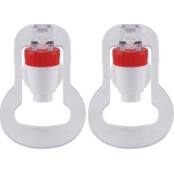 Red Water Cooler Faucet Plastic Water Dispenser Clean Spigot Fits Adaptor Hot Cold Water Faucet Tap Replacements 2pcs
