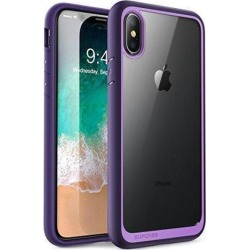 SUPCASE iPhone X, iPhone Xs Case, [Unicorn Beetle Style] Premium Hybrid Protective Clear Case for Apple iPhone X 2017/ iPhone Xs 2018 Release (Violet)