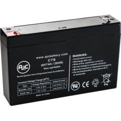 APC SmartUPS SC 450 w/Network Management Card SC450R1X542 6V 7Ah UPS Battery - This is an AJC Brand Replacement