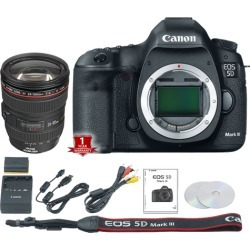 Canon EOS 5D Mark III DSLR Camera (Body Only) (International Model) with 24-105mm f/4L Lens Kit