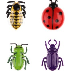 Electric Simulation Insect Crawl Vibration Toy Play Trick Cicada Beetle Toy