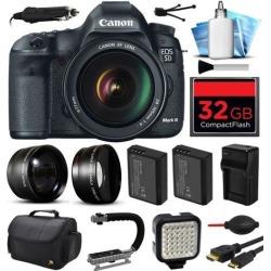 Canon EOS 5D Mark 3 III Digital Camera w/ 24-105mm Lens (32GB Essential Bundle)
