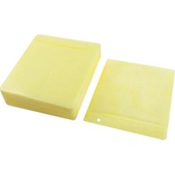 Unique Bargains 100 Disc Double Side PP CD DVD Sleeve Envelope Storage Case Organizer Yellow found on Bargain Bro Philippines from Newegg Business for $12.35