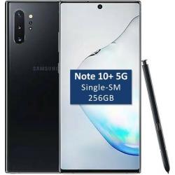 Samsung Galaxy Note 10+ Plus (5G) Single-SIM SM-N976B 256GB (GSM Only, No CDMA) Factory Unlocked 6.8-Inch Android Smartphone - Aura Black