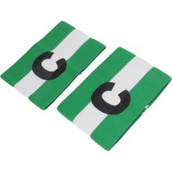 2pcs Green Blue C Printed Stretchy Football Soccer Sports Match Captain Armband