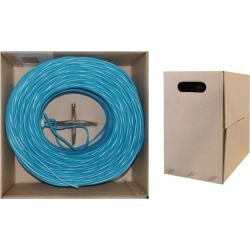 Offex Bulk Shielded Cat6 Ethernet Cable Solid Spool 1000 foot - Blue
