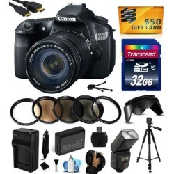 Canon EOS 60D 18 MP CMOS Digital SLR Camera with 18-135mm f/3.5-5.6 IS UD Lens with 32GB Memory + Flash + Battery + Charger + UV-CPL-FL-ND4-10x.