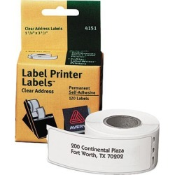 Avery Multipurpose Labels, Dymo, Seiko and Zebra Printers, 1-1/8' x 3-1/2' , 120 Roll Labels (4151)