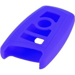 Unique Bargains Blue Silicone Remote Car Key Holder Case Ornament for BMW