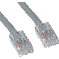 Cable Wholesale Cat 6 Gray Ethernet Patch Cable, Bootless, 25 Foot