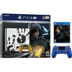 PlayStation 4 Pro 1TB Limited Death Stranding Edition 4K HDR Gaming Console Bundle With an Extra Wave Blue DualShock 4 Wireless Controller