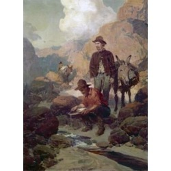 Posterazzi SAL900101556 The Miners During the Gold Rush 1849 in California Ben Johnson B.20th C. American Poster Print - 18 x 24 in.