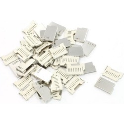 Unique Bargains 50 Pcs Pull-Out Type SD Card Sockets Slots 16mm Long for Digital Camera