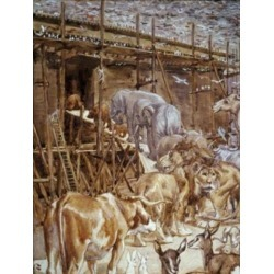 Posterazzi SAL99912 Animals Enter the Ark James Tissot 1836-1902 French Oil on Canvas Jewish Museum New York Poster Print - 18 x 24 in.