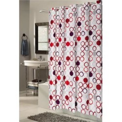 Carnation Home Fashions Living Room Decorative Extra Long, EZ-ON Bohemia Polyester Shower Curtain