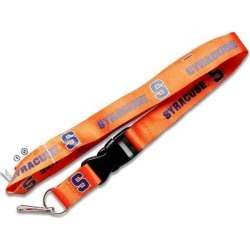 Syracuse Orangemen Clip Lanyard Keychain Id Ticket Holder NCAA