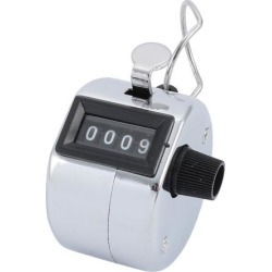 Hand Tally Counter 4 Digit Number Handheld Metal Mechanical Counter Lap Counter Digit Clicker to 9999