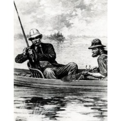 Posterazzi SAL99587170 A Distinguished Fisherman-President Chester Arthur by Unknown Artist 1884 Poster Print - 18 x 24 in.