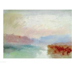 Posterazzi BALXIR360265LARGE River Scene 1834 Poster Print by J.M.W. Turner - 36 x 24 in. - Large