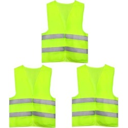 Reflective Mesh Design Security Vest for Jogging Traffic Safety Yellow Green 3pcs found on Bargain Bro India from Newegg Canada for $16.96