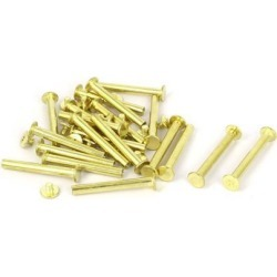 Unique Bargains 5mmx40mm Brass Plated Chicago Screws Binding Posts Docking Rivet 20pcs found on Bargain Bro Philippines from Newegg Canada for $11.11
