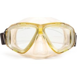 5.5' Yellow and Clear Newport Mask Swimming Pool Accessory for Teens