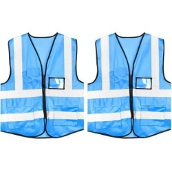 Reflective Mesh Design Security Vest for Jogging Traffic Safety Light Blue 2pcs found on Bargain Bro India from Newegg Canada for $23.55