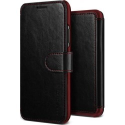 Vrs Design Layered Dandy Folio Case Black for iPhone XS Max Cases