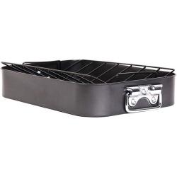 Cuisine Select Steel Roasting Pan and Rack 2 Piece Set