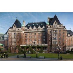 Fairmont Empress Hotel, Victoria, Vancouver Island, British Columbia, Canada Print by Walter Bibikow