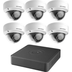 HIKVISION - TurboHD 8-Channel 1080p DVR with 2TB HDD and 6 x 1080p Outdoor Dome Cameras Kit, T7108Q2TB found on Bargain Bro India from Newegg Canada for $569.09