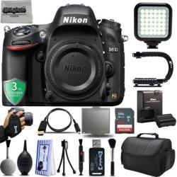 Nikon D610 24.3MP 1080P DSLR Camera w/ Wi-Fi & GPS Ready + 64GB - 25PC Kit + 3 Year Warranty
