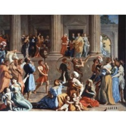 Posterazzi SAL900678 The Triumph of David Nicolas Poussin 1594-1665 French Oil on Canvas Dulwich Picture Gallery London England Poster Print - 18 x.