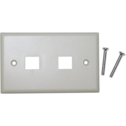Cable Wholesale Wall Plate 2 Hole for keystone Jack Beige