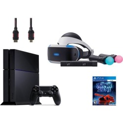 PlayStation VR Starter Bundle (5 Items): PlayStation 4 Console, VR Headset, 2 Move Motion Controllers, PlayStation Camera, and PSVR Battlezone Game