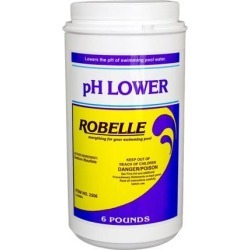 Robelle 2306 pH Lower Chemical for Swimming Pools, 6 lbs.
