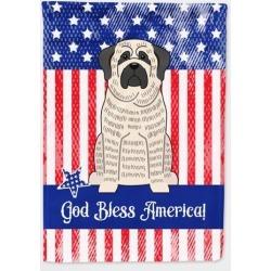 Patriotic USA Mastiff Brindle White Flag Garden Size BB3011GF