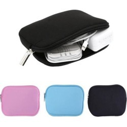 Earphones/Charger Power Bag Laptop Sleeve Notebook Adapter/Mouse Case Bag Pouch (Black Blue Pink)